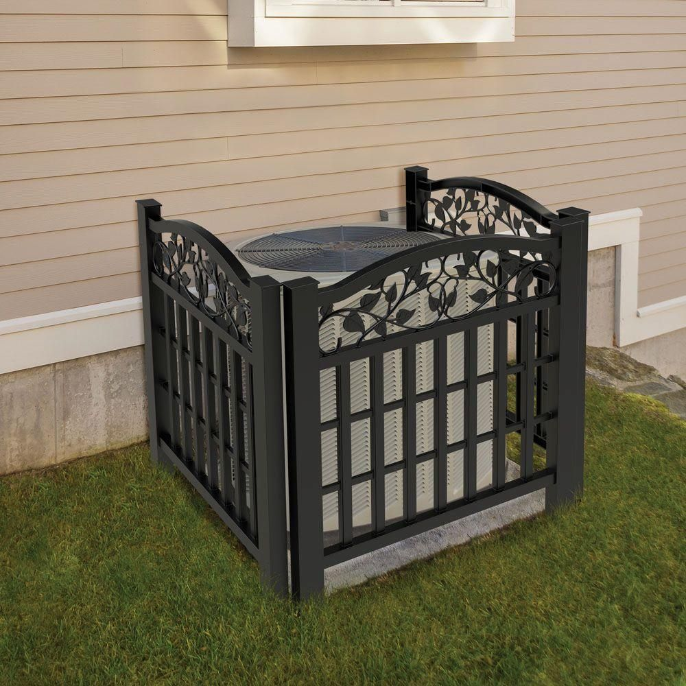 Veranda 32 In X 38 In Black Vinyl Decorative Ivy Accent