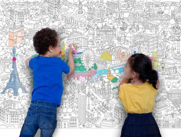 Children S Art On A Grand Scale With Omy Giant Colouring