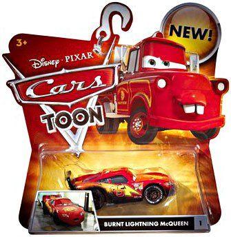 Disney Cars Toon Burnt Lightning Mcqueen Die Cast Car By Mattel Disney Cars Diecast Disney Pixar Cars Disney Cars