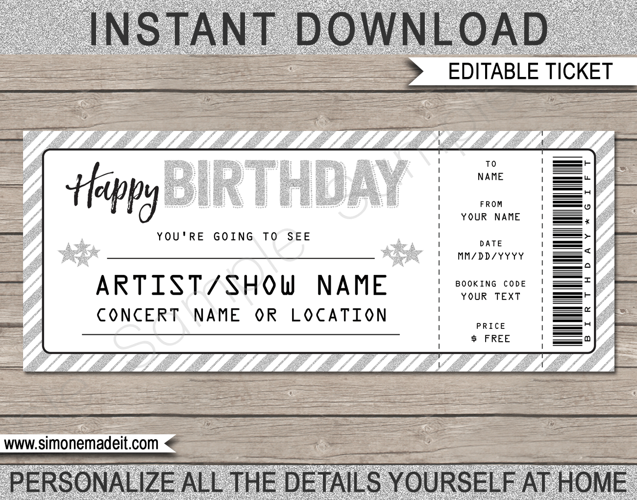 Gift Ticket Template from i.pinimg.com