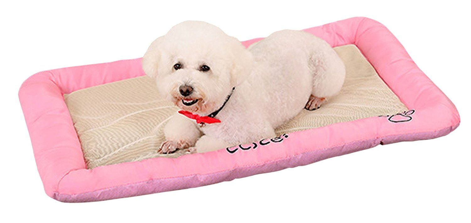 Pet Dog Cooling Mat Pets Cool Bed Cat House Ice Pad Chilly Ice Cooler Bed For Dogs Pets Puppy Cushion Mat Cold Pillow Bed Puppy Cushion Dog Cooling Mat Cat Bed
