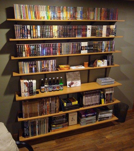 Gorgeous Wooden Style Storage Homemade Bookshelves Design