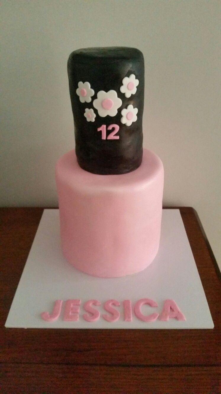 Nail Polish Bottle Cake Birthday Cakes Pinterest Bottle Cake