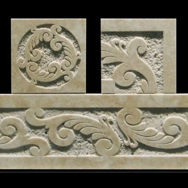Decorative Travertine Tile Borders Custom Made Carved Travertine Tile Border  Tile Designs