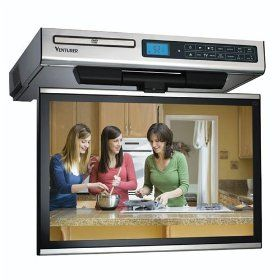 Venturer Undercabinet Kitchen Lcd Tv Dvd Combo Flip Up Screen Flips Around And To Save E Protect The