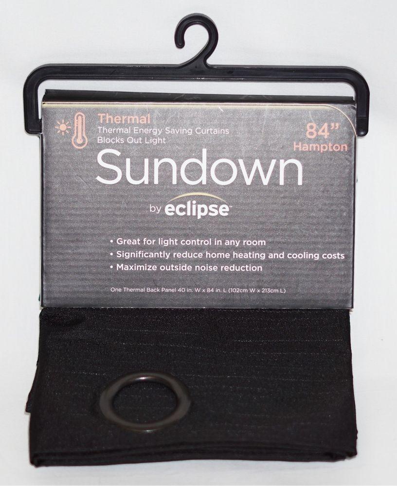 Sundown By Eclipse Single 1 Thermal Back Panel Hampton 84 New