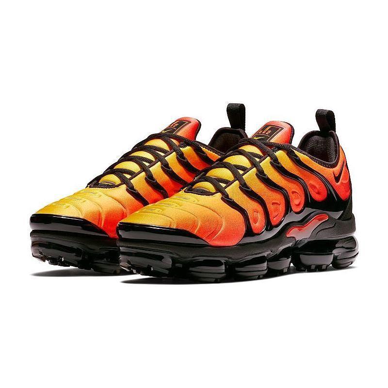 a40e411b0ba Nike Air VaporMax Plus Black Orange Crimson