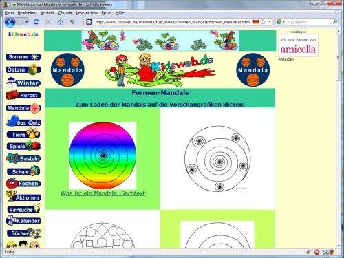 mandala ausmalbilder kidsweb | ausmalbildkostenlos.| Pinterest