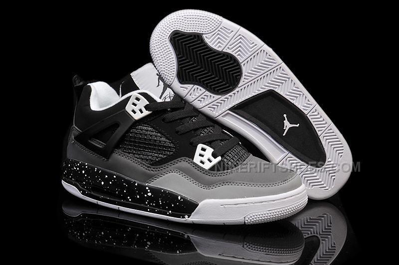 Authentic Air Jordan 4 Stealth-Oreo Dark Grey Black-White Sale