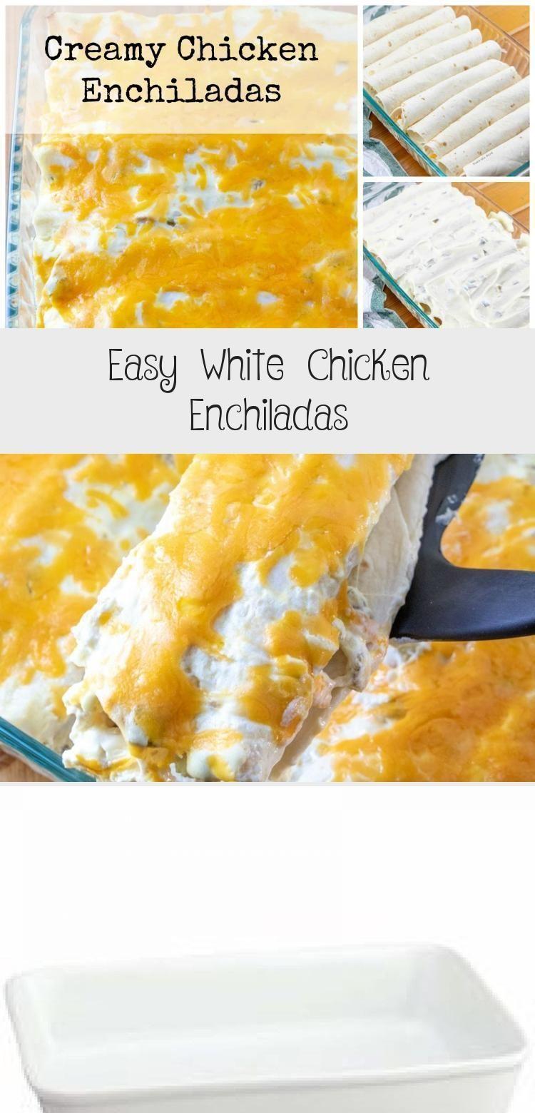 Einfache weiße Hühnerenchiladas - New Ideas #todieforchickenenchiladas