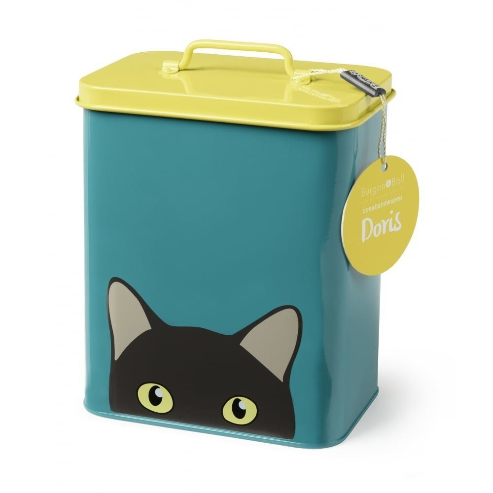 Burgon and Ball 'Doris' Cat Storage Tin Pet food tin