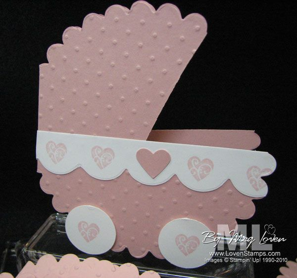 Baby needs her own big shot big shot babies and baby buggy baby shower carriage big shot scallop circle stampin up invitation hearts filmwisefo Choice Image