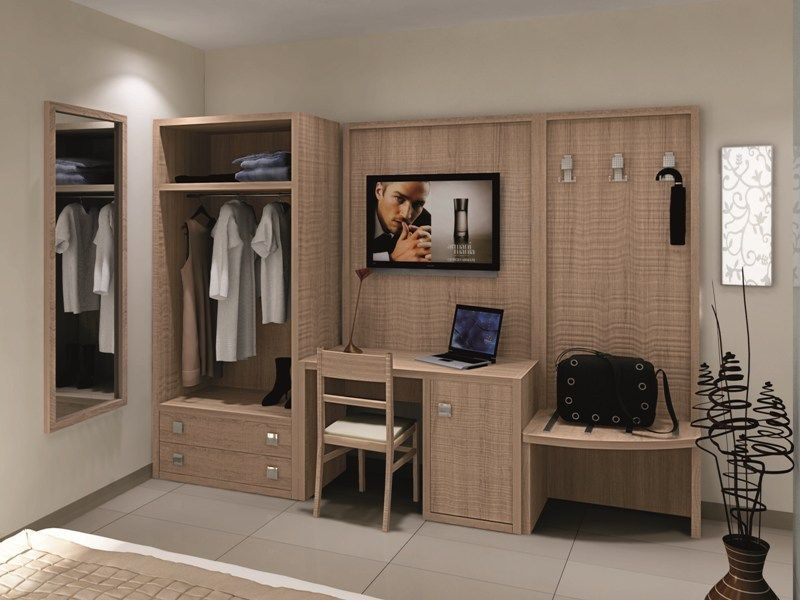 Melamine-faced chipboard wardrobe for hotel rooms FASHION - g hotel luxus pur interieur