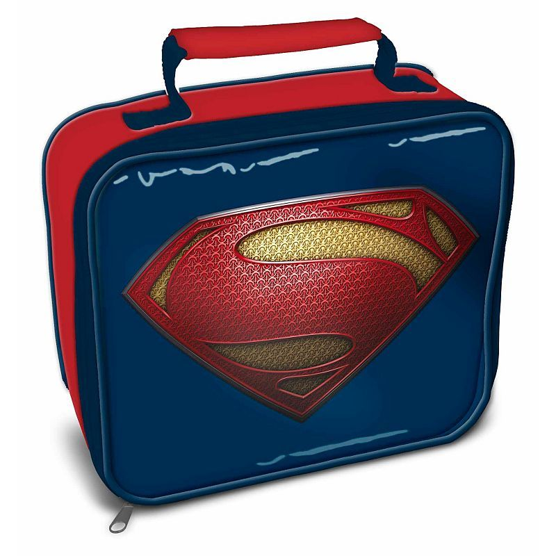 superman lunch bag boys lunchbags and bottles asda. Black Bedroom Furniture Sets. Home Design Ideas