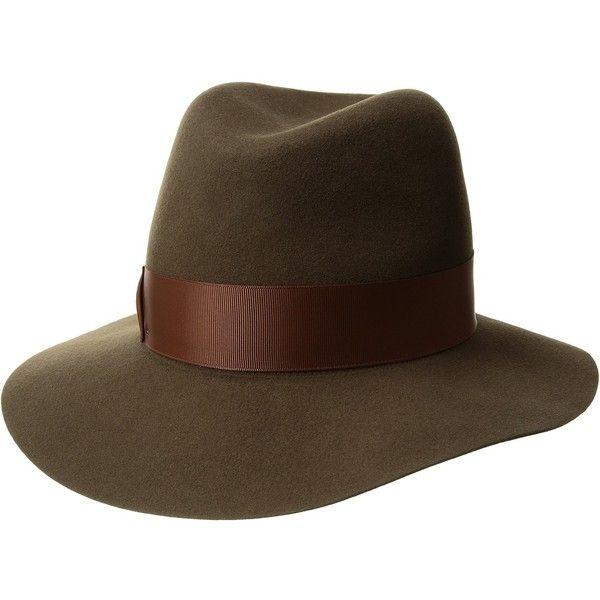 92e183ad Betmar Dickinson (Olive/Cognac) Caps ($85) ❤ liked on Polyvore featuring  accessories, hats, betmar hats, crown hat, flat brim cap, fedora hat and  olive ...