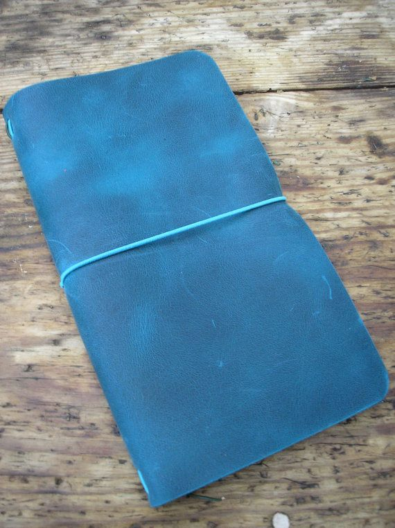 Leather Midori style Travellers Notebook Regular size by molsmum, $41.15