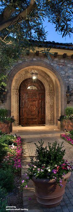 Romantische Hauptdekor, Toskanischen Stil, Spanischen Stil, Hacienda Stil  Häuser, Haustüren, Türen, Leitplanken, Tickets, Haciendas