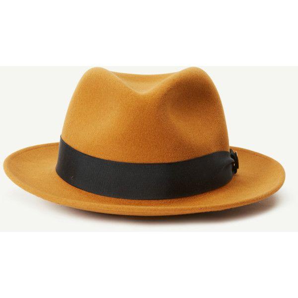 Iceburg Jim Felt Fedora Hat Goorin Bros. Hat Shop (9.875 RUB) ❤ liked on Polyvore featuring accessories, hats, goorin, brimmed hat, crown hat, fedora hat and felt crown