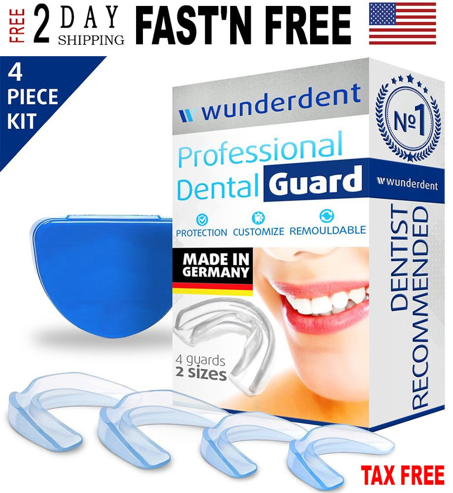 Clear Thin 4 Mouth Guard For Grinding Teeth Night Time