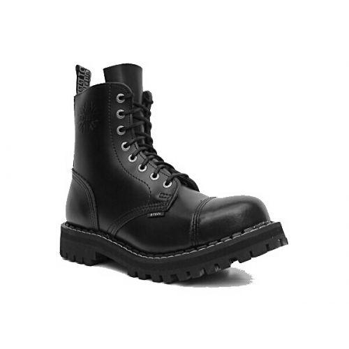 Boty Steel 8-dírkové - černé