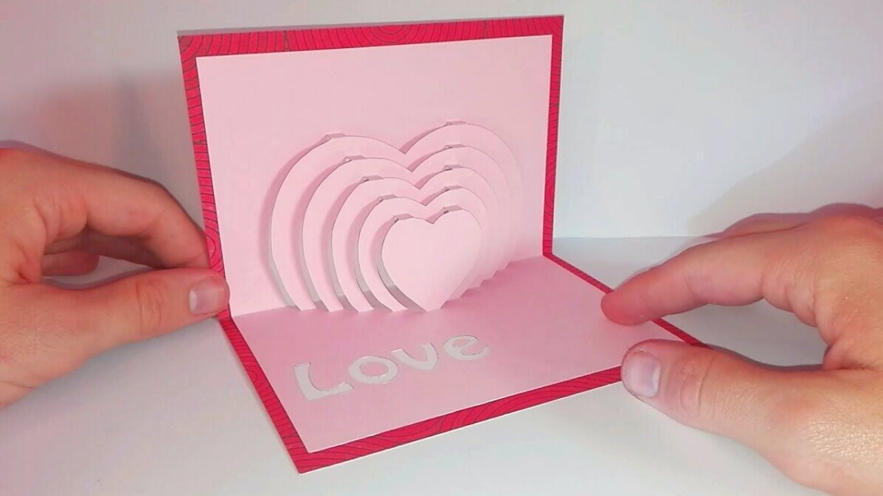 Diy Make A Popup Card Heart In Kirigami Diy Free And Easy