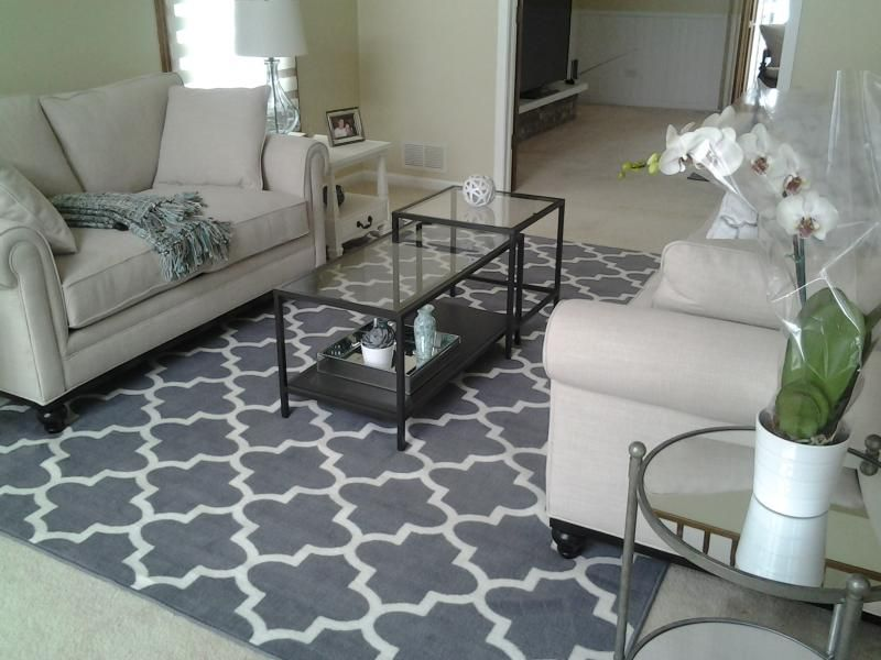 Gray target area rug size 7x10 living room for Living room area rugs
