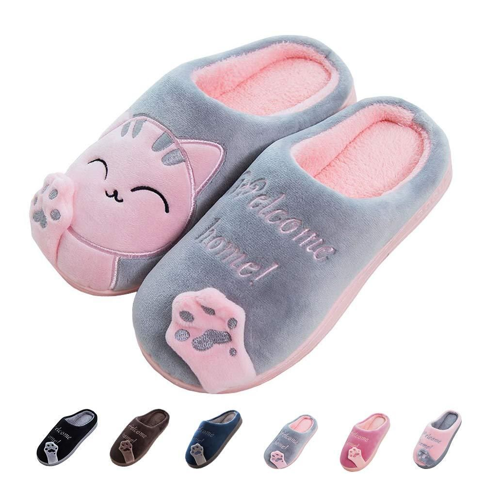 05d7ad1e7b3c2 Women's & Men's Comfort Memory Foam Slippers Breathable Fuzzy Slip ...
