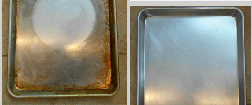 How To Clean Baked On Grease From Your Baking Sheets Cleaning