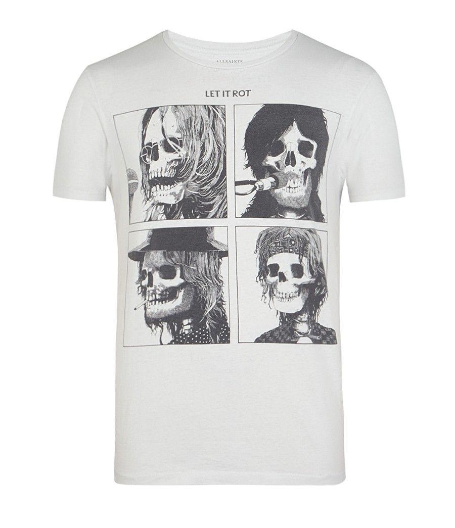 82d5c91a2c00be AllSaints Let It Be Band Crew T-Shirt | Mens Graphic T-Shirts | Tees ...