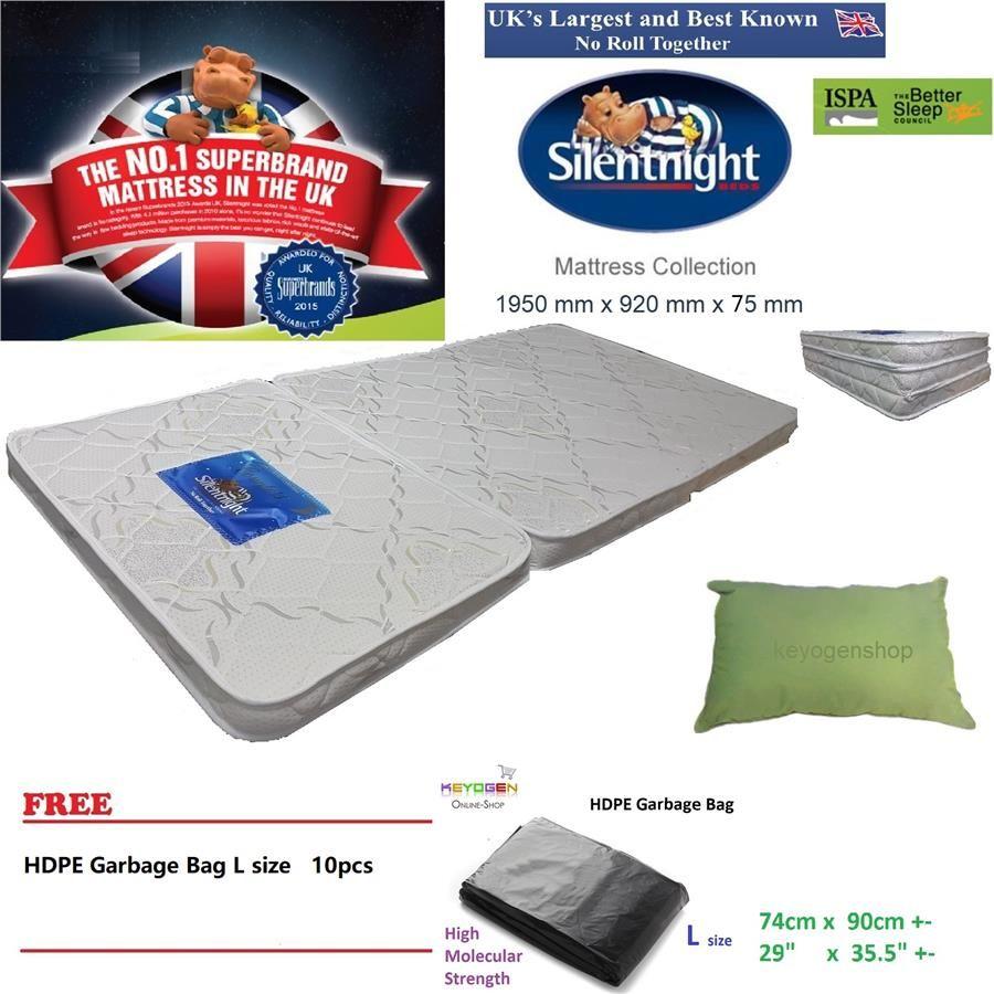 Mattress Superbrands Uk Brand Silentnight Foldable Mattress Pillow Combo Free L Gbag 10pc Pillow Combos Foldable Mattress Silentnight