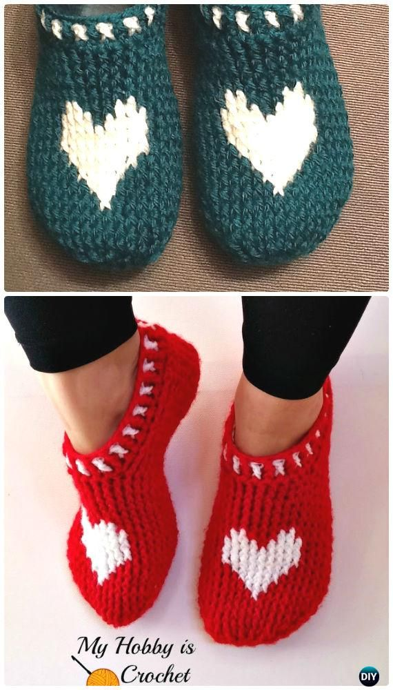 Crochet Women Slippers Free Patterns | Patrón de ganchillo, De las ...
