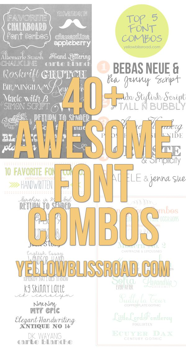 Vintage & Retro Inspired Free Font Combinations | Yellow Bliss Road