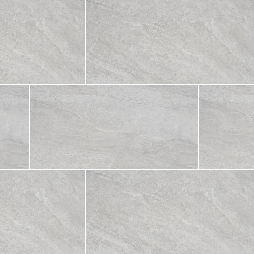 MSI Himalayan Gray 12 in. x 24 in. Glazed Porcelain Floor