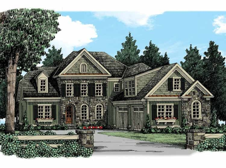 Eplans New American House Plan - Grand Old-World Cottage - 2858