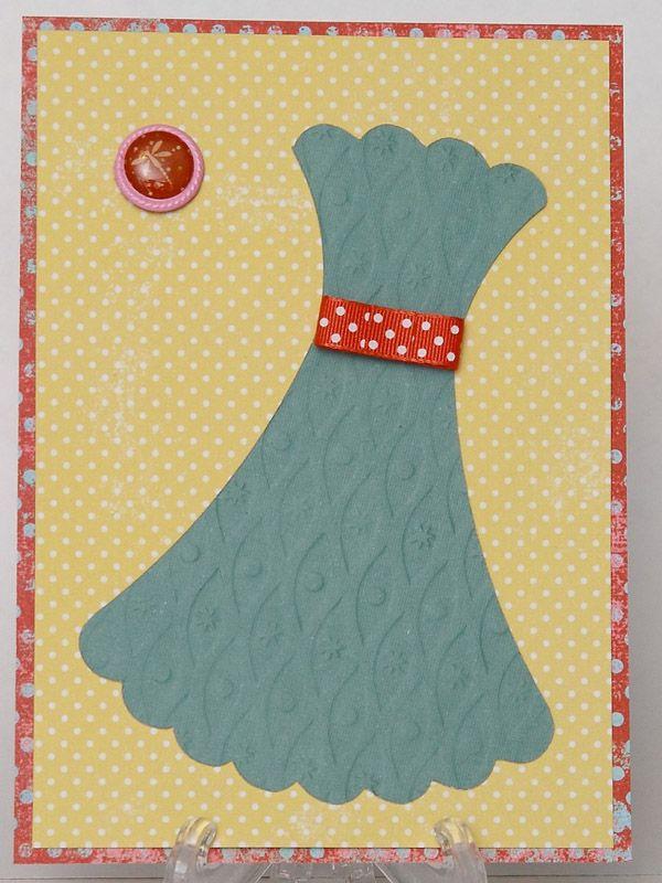 Как сделать открытку виде платье