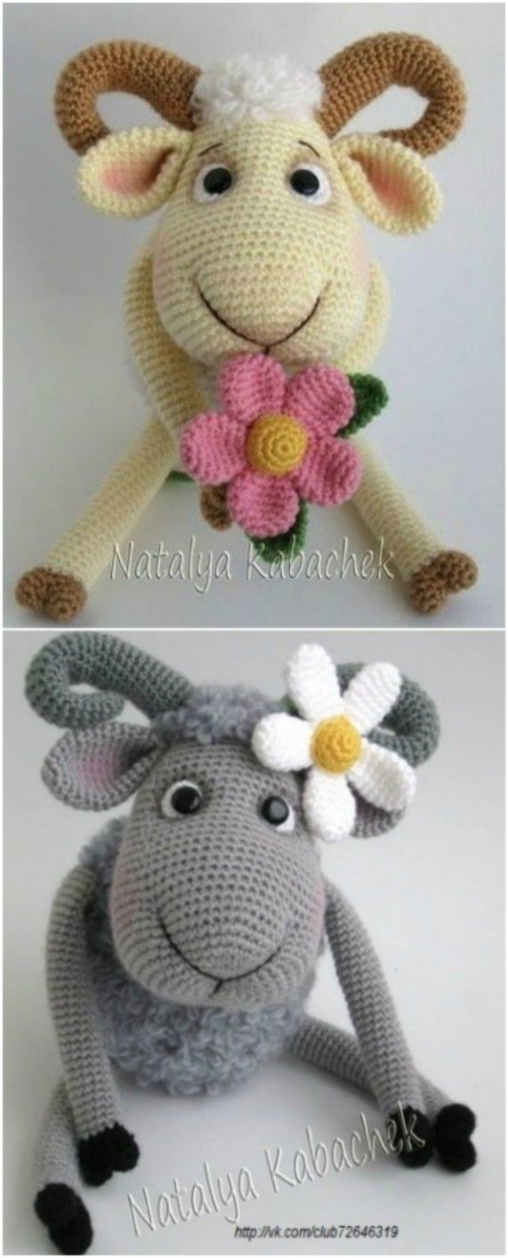 Crochet Bobble Sheep Pillow And Lots Of Free Patterns | Pinterest ...