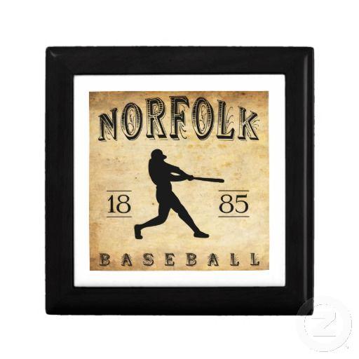 1885 Norfolk Virginia Baseball Keepsake Boxes