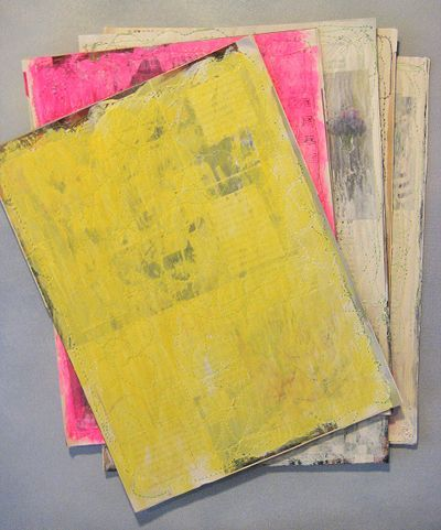 'How to recycle a magazine to create art paper'