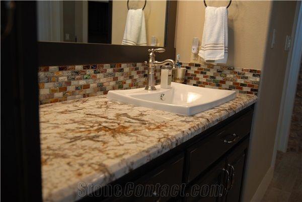 Delicatus Gold Granite Bathroom Vanities, Vanity Counter Tops, Delicatus  Gold Yellow Granite Vanities