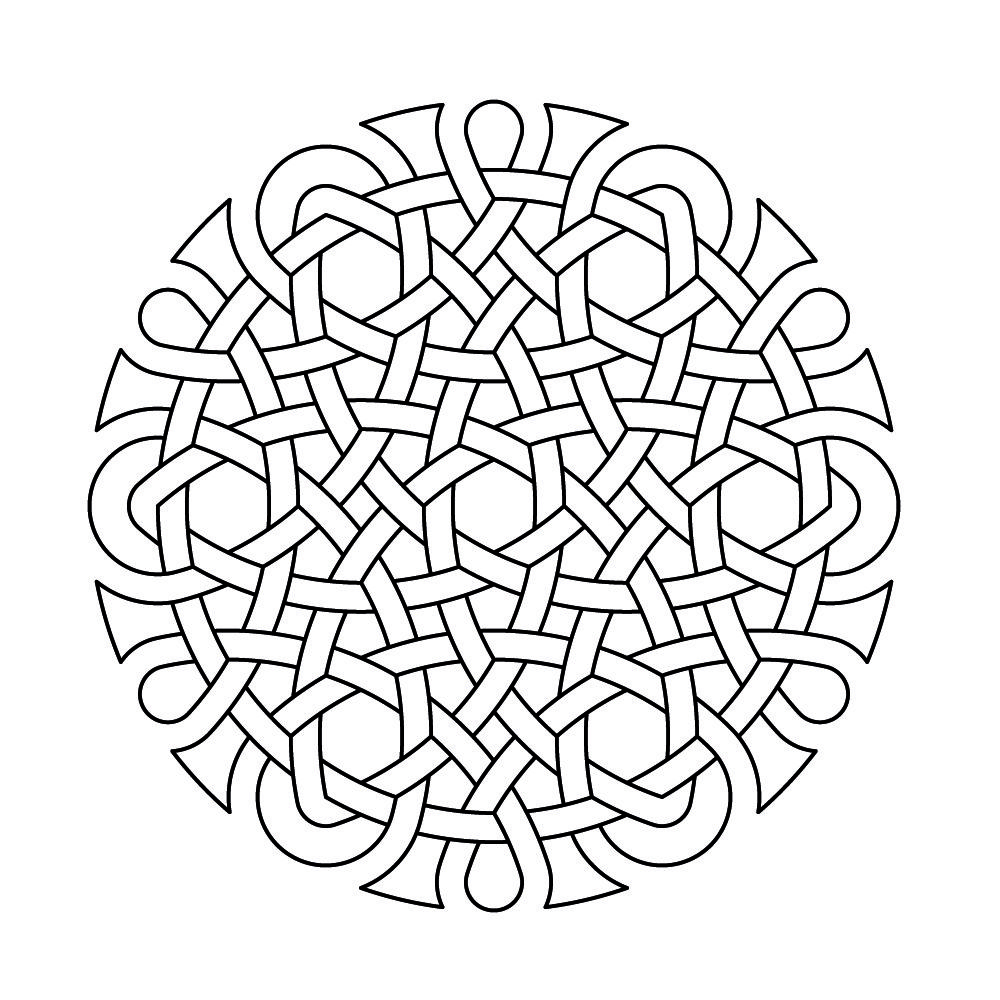Rosette For Para Celtic Knot Work By Peter Mulkers Drawn With