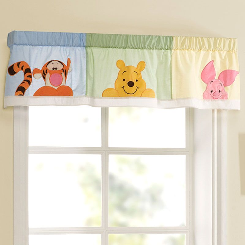 Winnie The Pooh Window Valance Peeking Pooh Fayes
