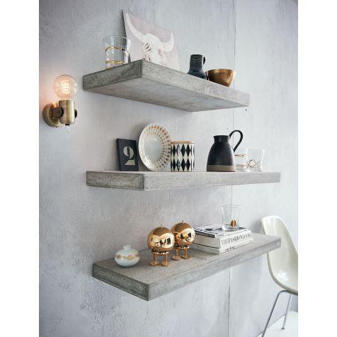 Wandregal, Betonoptik, Industrial Look Vorderansicht Küche Pinterest