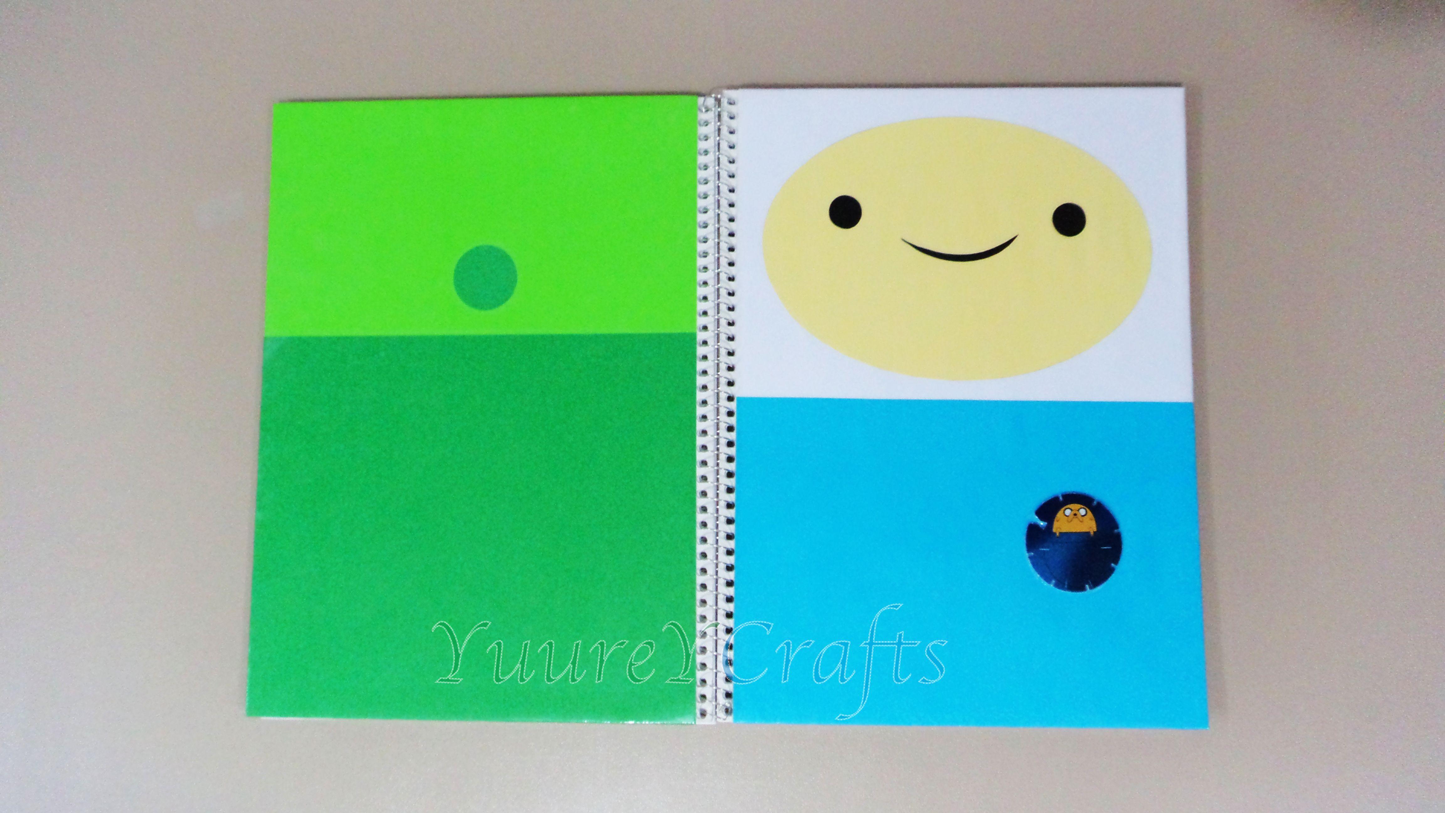 Forra / Decora Tus Cuadernos Como Finn El Humano