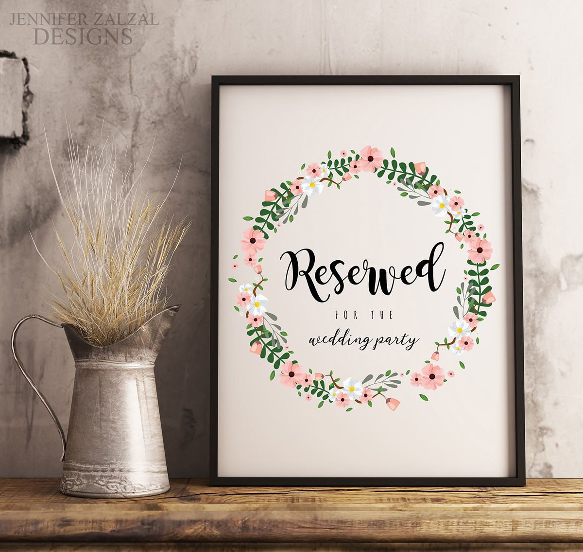 Rustic Reserved Sign Reserved Printable Reserved Template Reserved Seat Reserved Chair Reserved Seating Reserved Signs Wedding Signs Reserved Table Signs