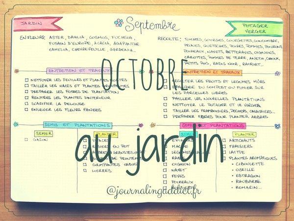 Le calendrier des travaux de jardinage du mois d 39 octobre for Calendrier plantation jardin potager