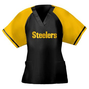 official photos eb683 cde3a Pittsburgh Steelers Unisex Team Jersey Replica Scrub Top ...