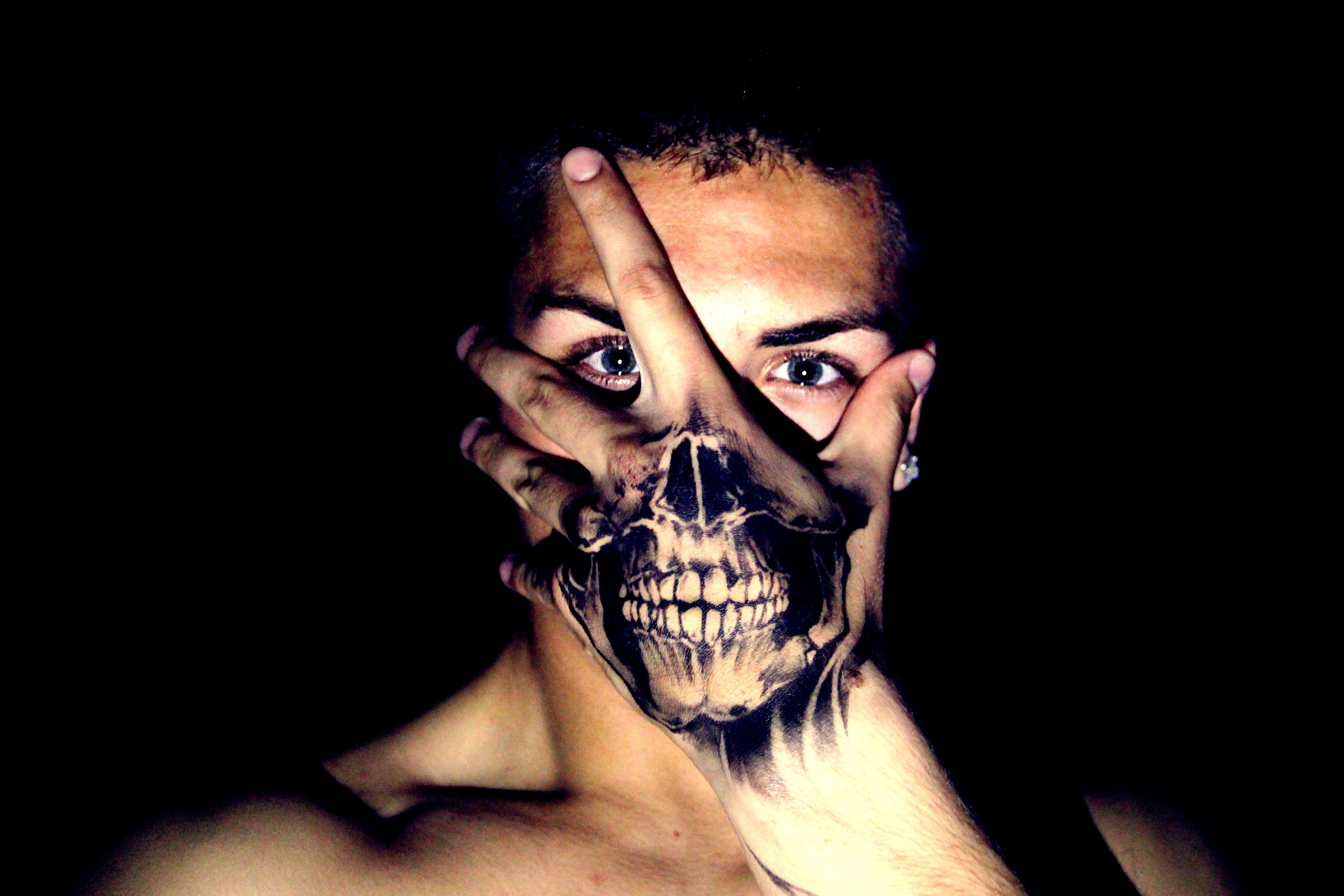 Pencil Drawings Of Tattoos Skull Art Tattoo Stock