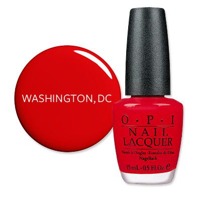 America S Most Wanted Nail Polish Washington D C Fire Engine Red Christophe Salon Reported Opi Le As The Por And Patriotic