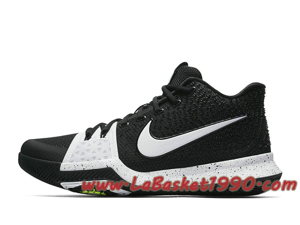 buy online e728a 69688 Nike Kyrie 3 Tuxedo 917724-001 Chaussures Nike Officiel Pas Cher Pour Homme  Noir Blanc