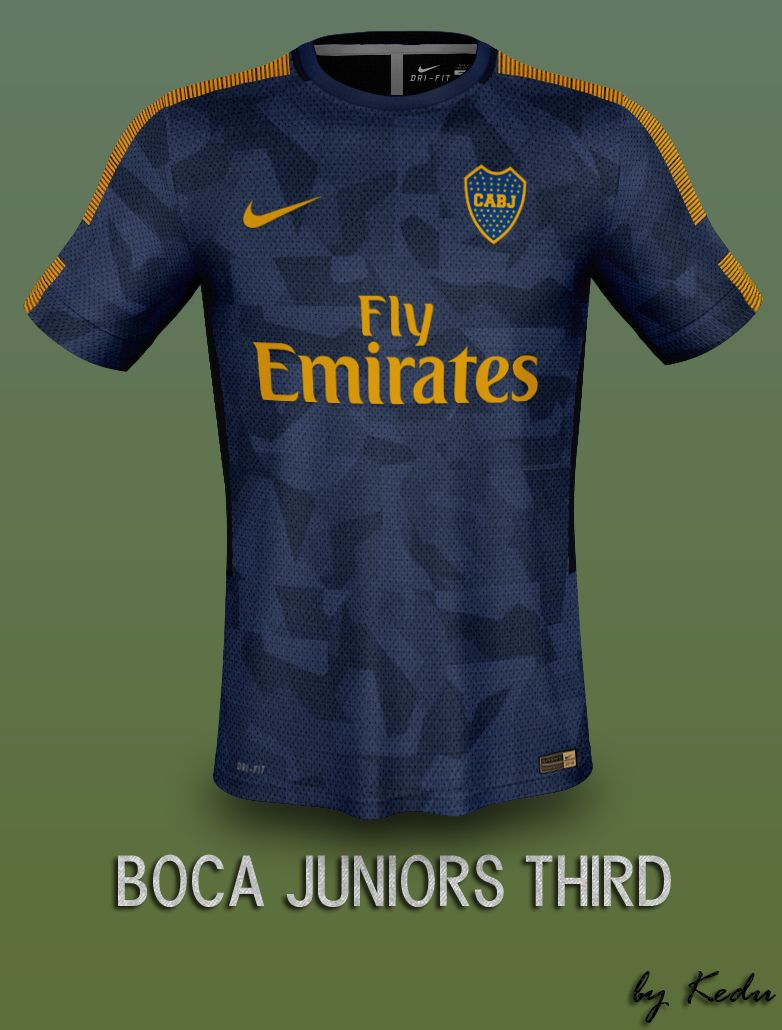 Diseño Juniors Club Nike Third De Kit Boca FantasayShivanil l1FJcTK3u5